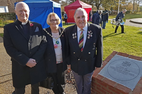 Image demonstrating Two commemorative stones unveiled to recognise Ashington war heroes