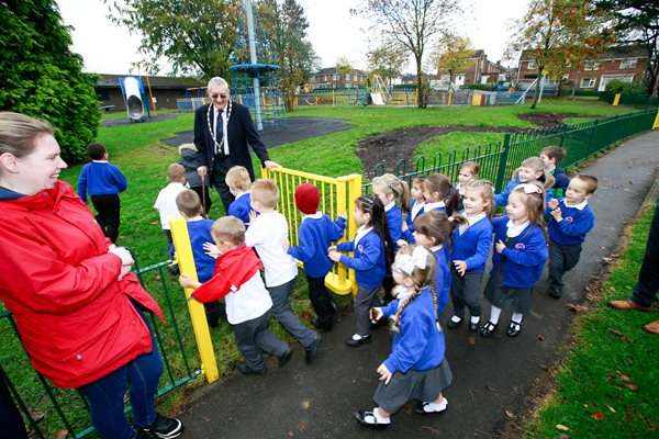 Image demonstrating Prudhoe youngsters are in the swing at new park