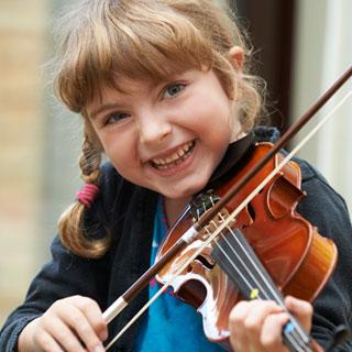 child playing violin