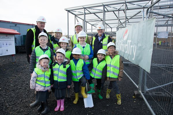 Image demonstrating Turf Cutting Ceremony Marks Start of School Build