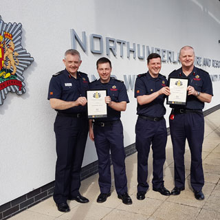 Image demonstrating Two Northumberland firefighters save a man in cardiac arrest