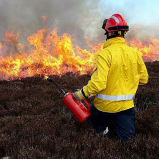 Image demonstrating Fire officers from Northumberland completed wildfire training project
