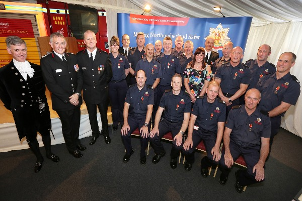 Image demonstrating Northumberland fire service honour long service and good conduct