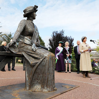 Image demonstrating Suffragette Emily's statue unveiled in Morpeth
