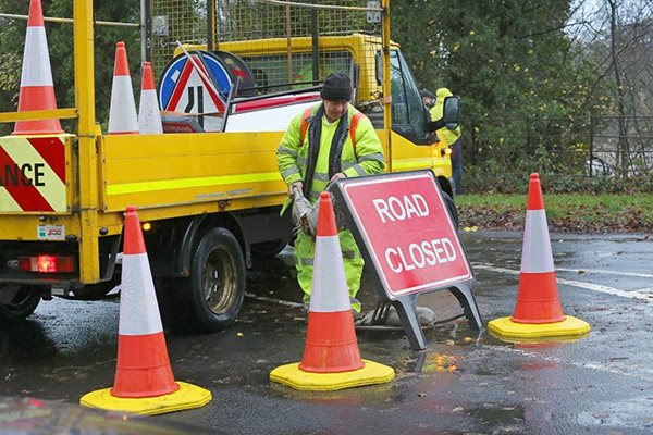 Image demonstrating Morpeth roadworks starting on February 18