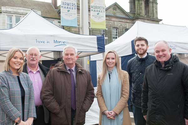 Stakeholders outside Morpeth Market