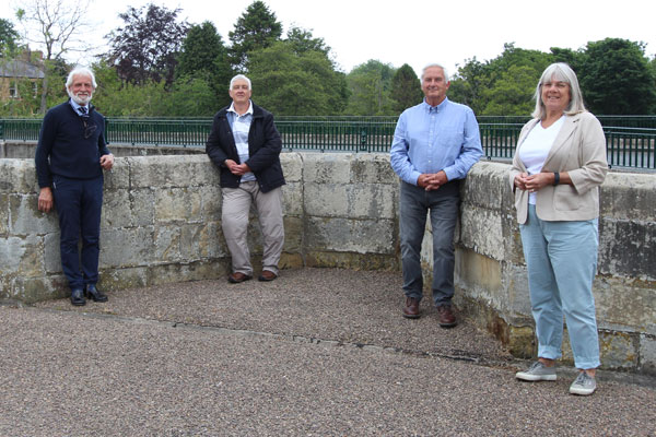 Councillors with new Felton Bridge in the background