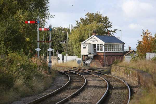 The rail line at Bedlington