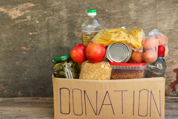a charity food box