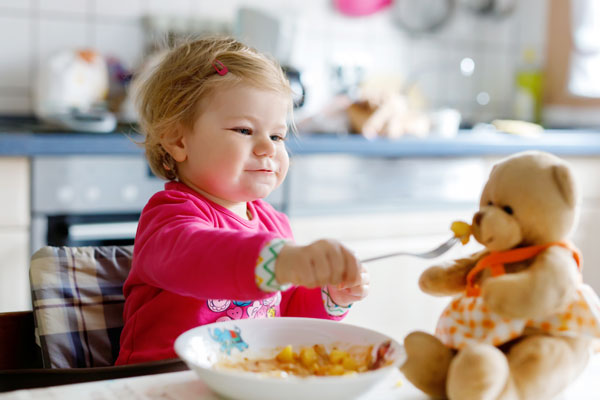 A child at mealtime