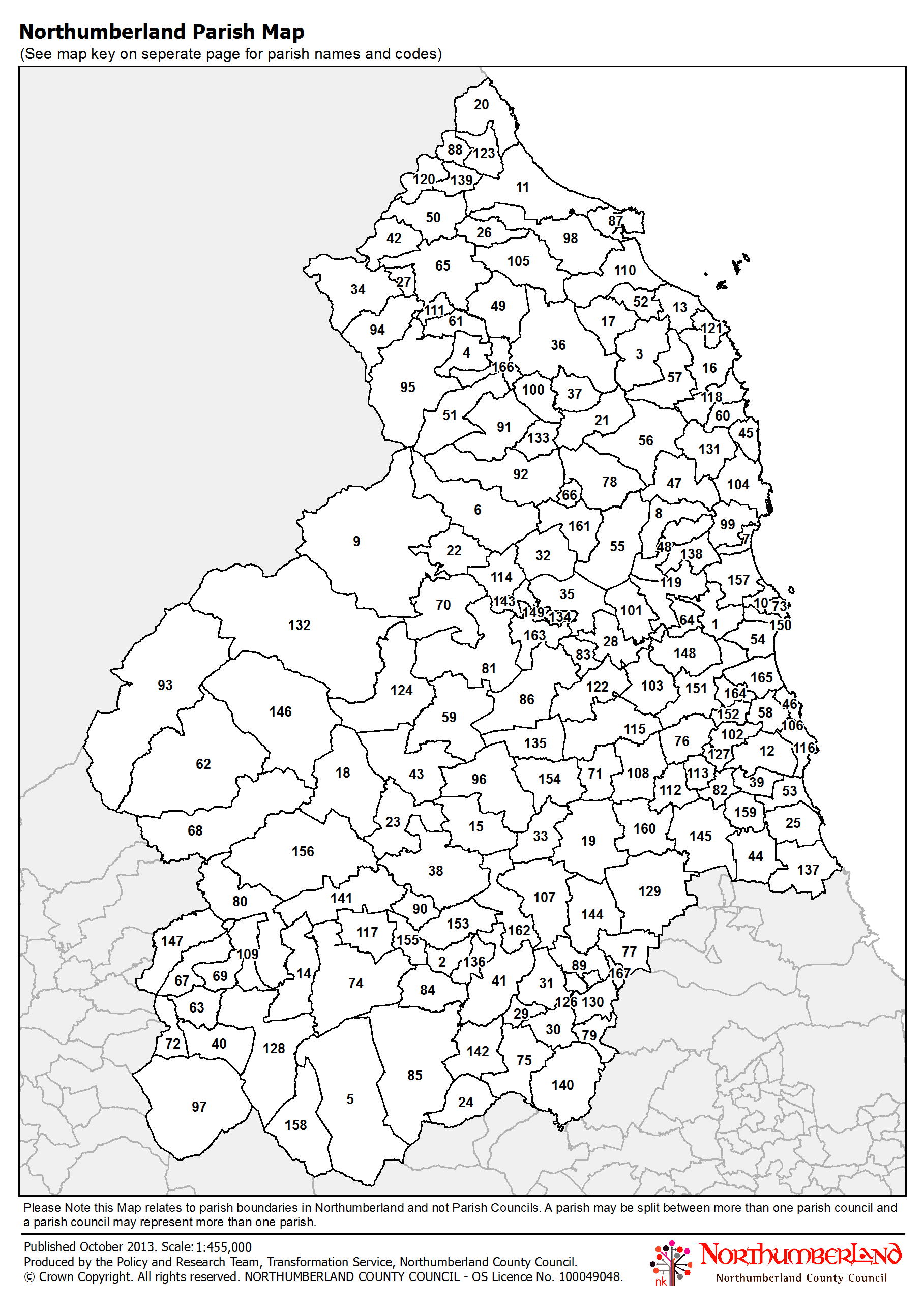 Map Of England Parishes.Northumberland County Council Map Library