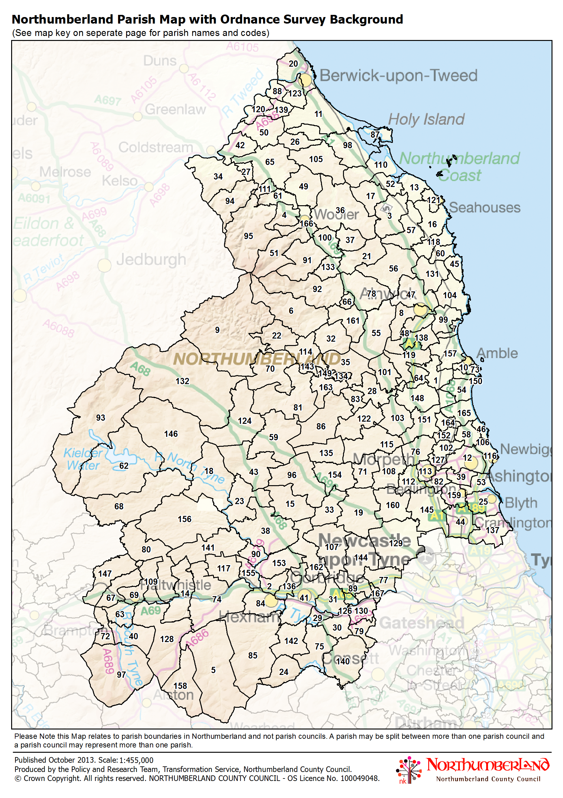 Northumberland county council map library parish map with os background sciox Image collections