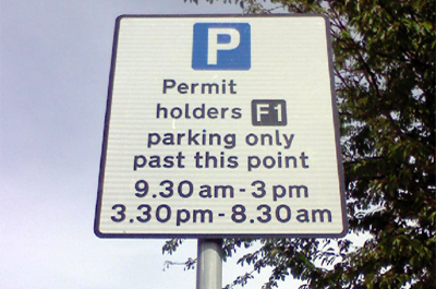 Image showing Northumberland pay and display parking permit