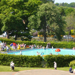 Image showing Play areas and paddling pool