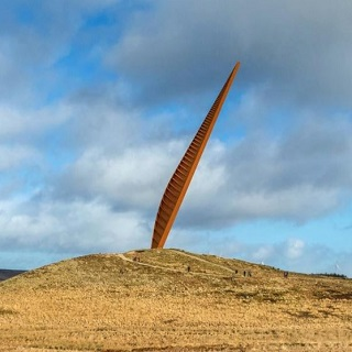 Image of the proposed Landmark at the Cold Law site in Northumberland