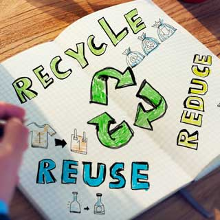 Image showing Reduce, reuse and recycle