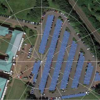 Pl;an of solar panel carpark