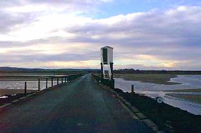 Image showing Holy Island crossing timetable