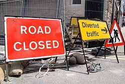 Image showing Roadworks, closures & diversions