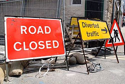 Image showing Roadworks, closures & diversions