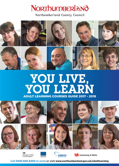 You live, you learn - Adult learning courses guide 2017-18 front cover