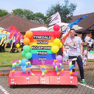 Image showing Tynedale House showcase parade with Pride